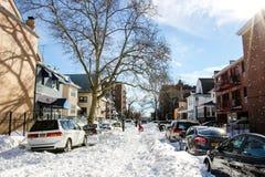 Nach Schnee Strom Lizenzfreie Stockbilder