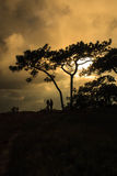 Nach Sonnenuntergang Thailand Lizenzfreie Stockbilder