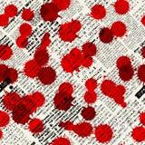 Nachahmung von Zeitungen, befleckt mit Blut Stockfoto