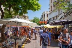 Nachalat Binyamin Market est un march? en plein air se sp?cialisant dans diff?rents arts et m?tiers image stock