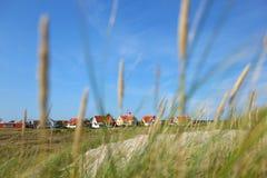 Nachbarschaft der Häuser durch das Gras Lizenzfreie Stockfotografie