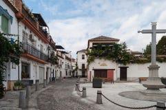 Nachbarschaft von AlbaicÃn Granada Lizenzfreie Stockfotos