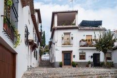 Nachbarschaft von AlbaicÃn Granada Lizenzfreies Stockfoto