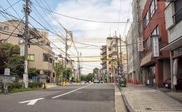 Nachbarschaft Yanaka, Tokyo Stockfotografie