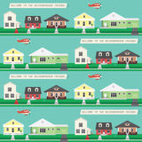 Nachbarschafts-nahtlose Tapete lizenzfreie abbildung