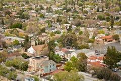 Nachbarschafts-Vogelperspektive Stockfotos