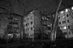 Nachbarschaftsblöcke bis zum Nacht Lizenzfreies Stockfoto