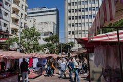 Nachbarschaftsfreiheit in der Stadt von Sao-Paulo Ost-cutura im September 2018 stockfotografie