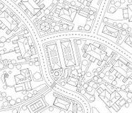 Nachbarschaftsumreiß Lizenzfreies Stockfoto
