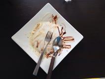 Nachdem dem Essen Stockbild