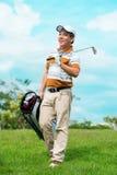 Nachdem dem Golf spielen lizenzfreies stockfoto
