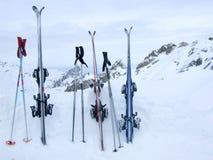 Nachdem dem Ski fahren Stockbild