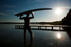 Nachdem windsurfing Lizenzfreie Stockbilder
