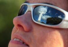Nachdenken über Glauben Stockfotografie