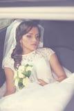 Nachdenkliche Braut lizenzfreies stockfoto