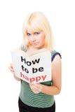 Nachdenkliche Frau möchten glücklich sein Stockbilder