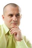Nachdenklicher Geschäftsmann Lizenzfreies Stockfoto