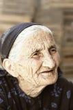 Nachdenkliches älteres im Freienportrait Lizenzfreies Stockbild