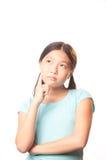 Nachdenkliches Mädchen Lizenzfreies Stockfoto