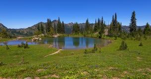 Naches Peak Loop Trail in Mt Rainier NP Royalty Free Stock Photos