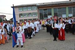 8 nachfolgendes internationales foklore Festival Luka Lizenzfreies Stockfoto