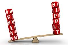 Nachfrage überwiegt Versorgung Der Mangel lizenzfreie abbildung