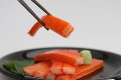 nachgemachte Krabbe mit Wasabi Lizenzfreie Stockbilder