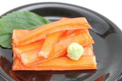 nachgemachte Krabbe mit Wasabi Lizenzfreies Stockfoto