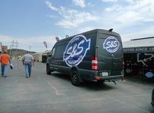 Nachgewiesener S&S-Leistungspackwagen bei Black Hills Harley Davidson, schnelle Stadt, South Dakota Stockfotos