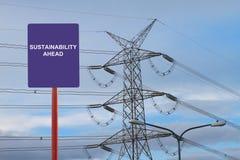 Nachhaltigkeit voran Lizenzfreies Stockbild