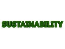 Nachhaltigkeits-Gras-Wort Lizenzfreie Stockfotos