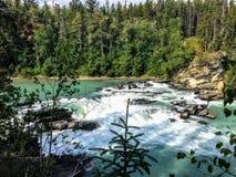 Nachhut fällt provinzieller Park ist ein provinzieller Park im Britisch-Columbia, Kanada und schützt Nachhut-Fälle stockfoto