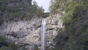 Nachi Falls, paisaje del invierno, en Mie, Japón almacen de metraje de vídeo