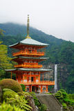 Nachi, Japan at Seigantoji Pagoda and Nachi Falls. Royalty Free Stock Image
