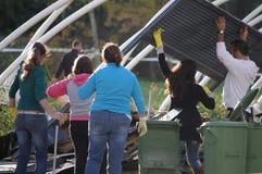 Nachmahd des Tornados stockfoto