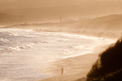 Nachmittag an der Küste Stockfoto