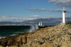 Nachmittag in Meer Stockfotos