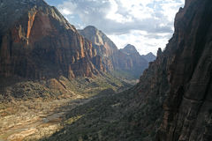 Nachmittags-Schatten Zion am Nationalpark Stockfotografie