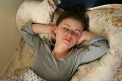 Nachmittagsschlaf Stockbild