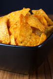 Nacho Cheese Tortilla Chips Royalty Free Stock Photos