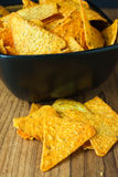 Nacho Cheese Tortilla Chips Stock Photo