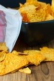 Nacho Cheese Tortilla Chips Royalty Free Stock Photo