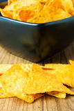 Nacho Cheese Tortilla Chips Royalty Free Stock Image