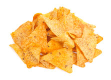 Nacho Cheese Tortilla Corn Chips Royalty Free Stock Photo