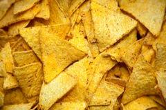 Nacho chip. Close up of the nacho chip Royalty Free Stock Image
