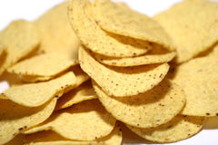 Nacho Chips. Close-up of nacho chips Stock Image