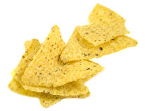 Nacho chips isolated on white Royalty Free Stock Photo