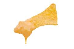 Nacho com mergulho de queijo Fotos de Stock