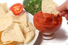 Nacho dip Stock Photo