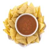 Nacho e salsa Fotografia Stock Libera da Diritti